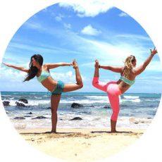 sunrise beach yoga maui