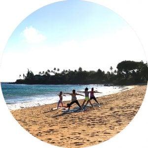 maui beach yoga paia wailea