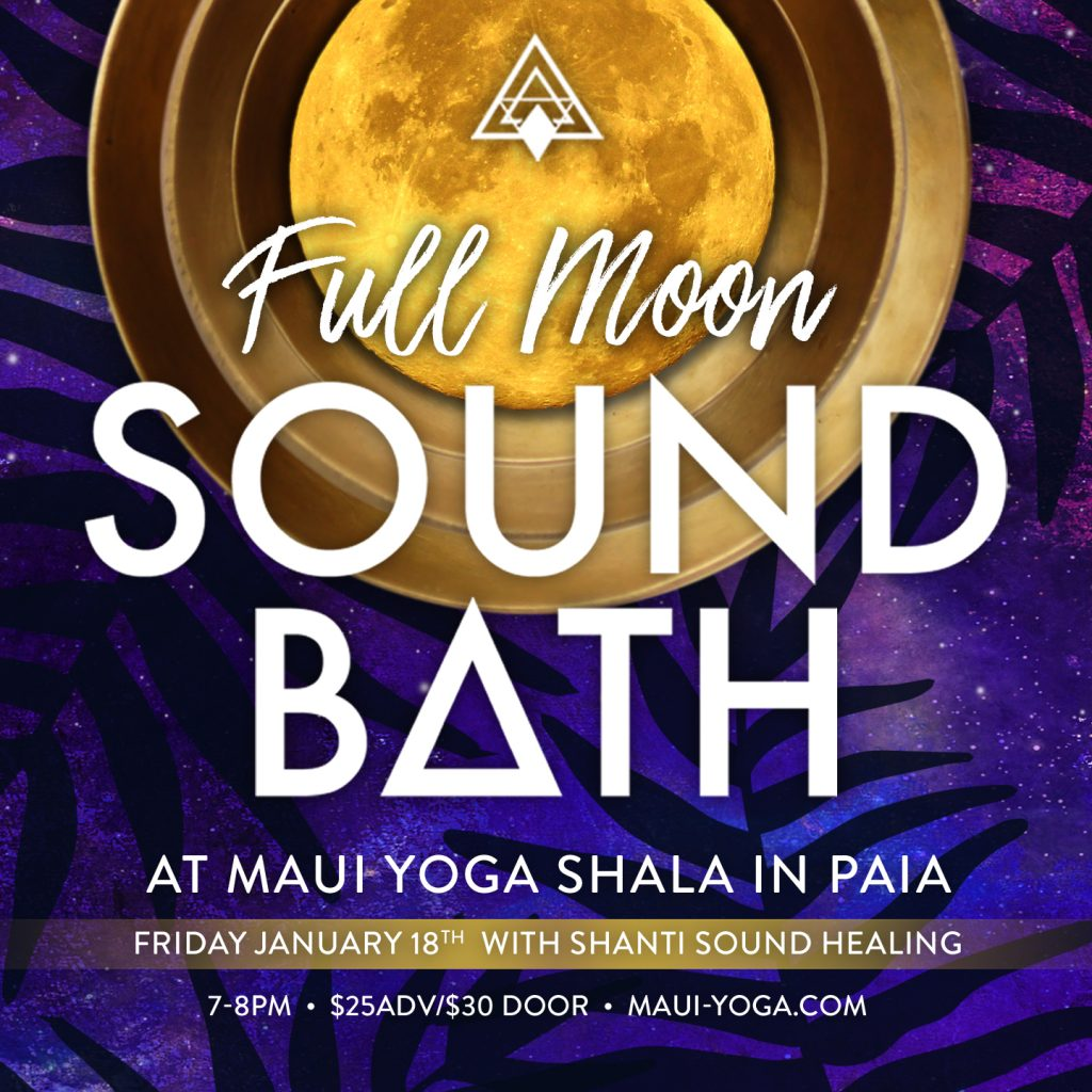 full moon sound bath healing