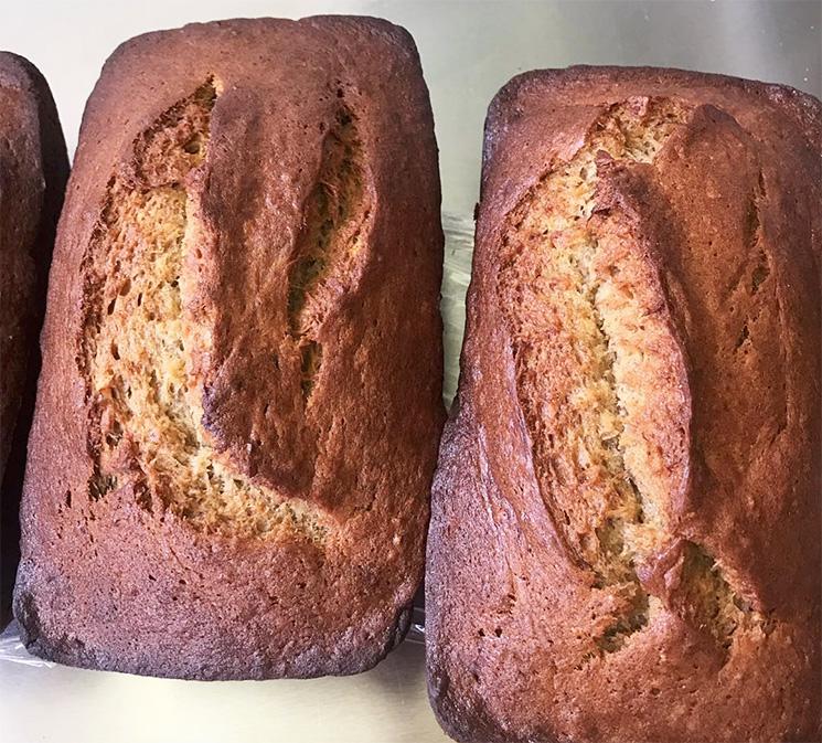 fresh baked banana bread paia maui