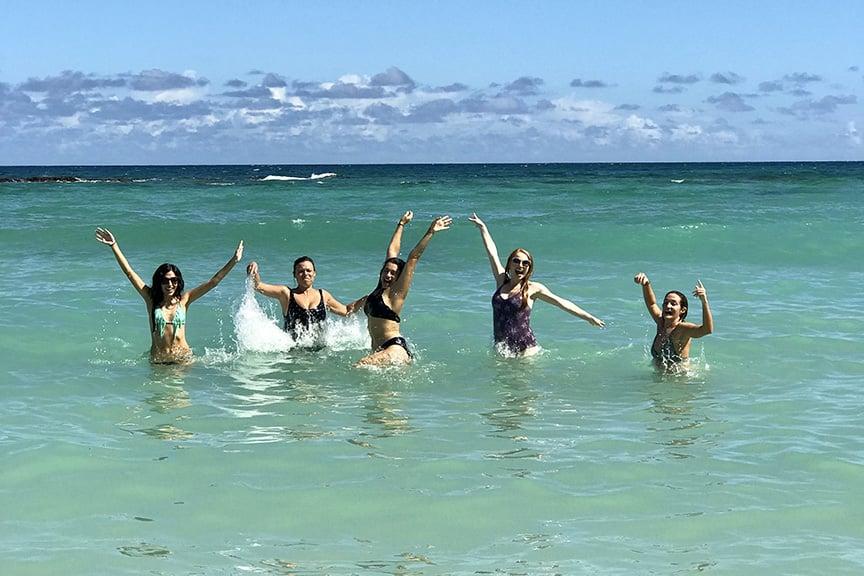 Beach ocean maui yoga adventure retreat