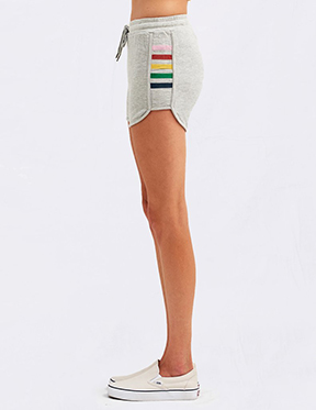 Inset Stripes Dolphin Short