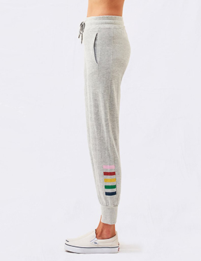 Inset Stripes Tapered Sweatpant