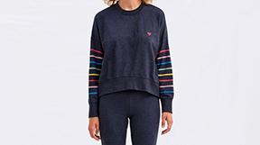 Rainbow Stripes Sweatshirt