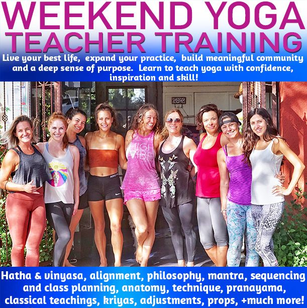 weekend yoga teacher training
