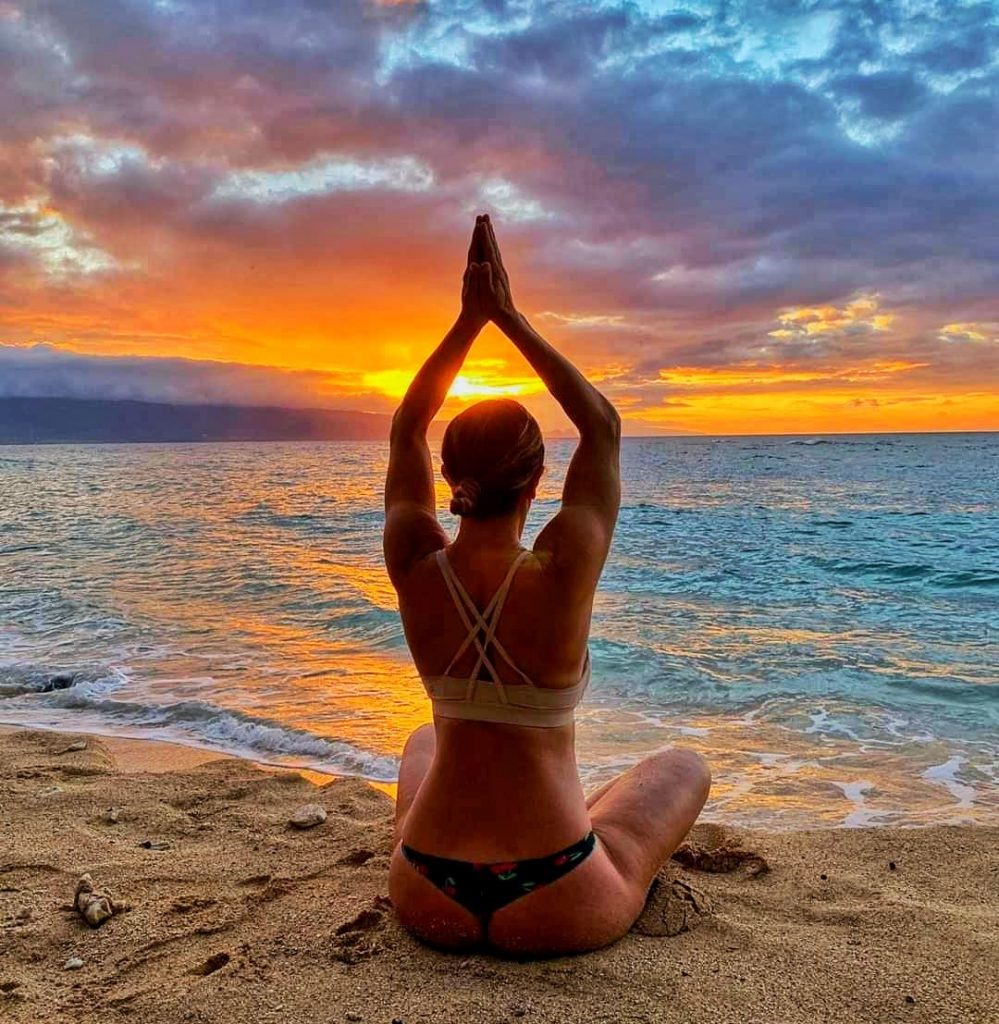 Yoga Sunset Nadia Toraman Maui Hawaii