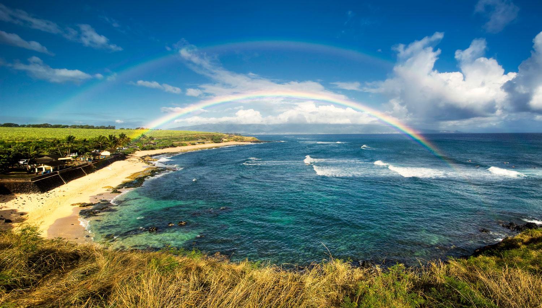 hawaii maui yoga training rainbow