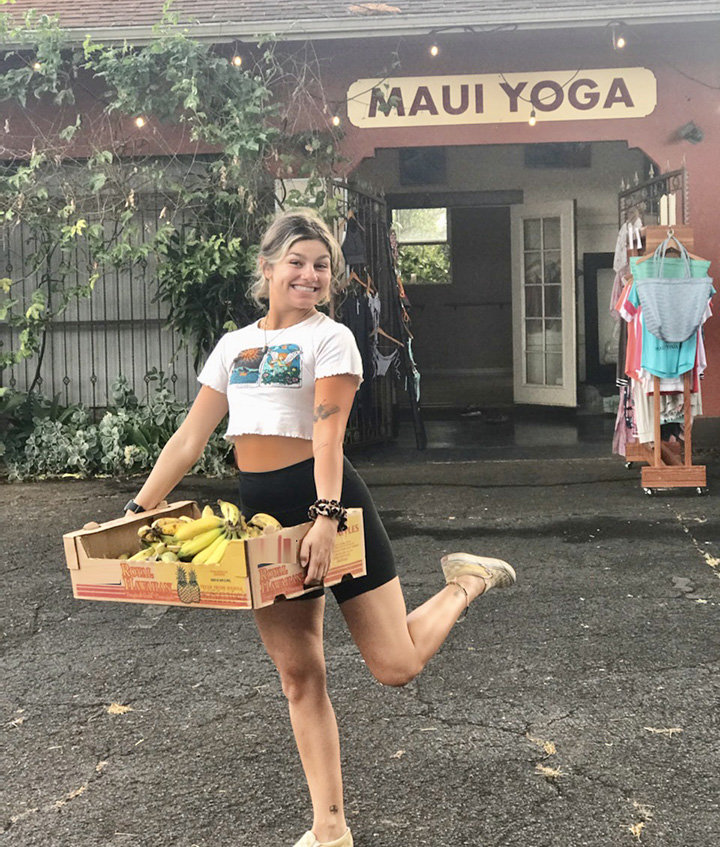 yoga and bananas Hawaii