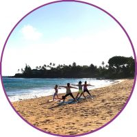 Icon Beach Yoga Circle